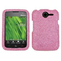 Asmyna PNP6030HPCDMS004NP Stylish Dazzling Diamante Case for Pantech P6030 - 1 Pack - Retail Packaging - Pink