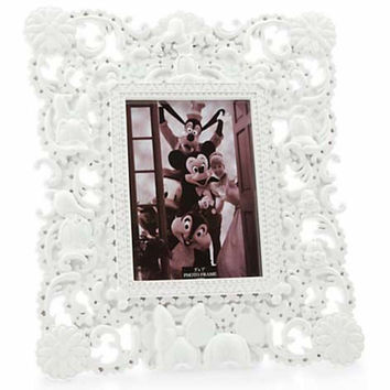 Disney Parks Picture Frame Mickey and Friends Sculptured  White New