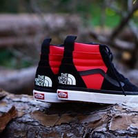 "The North Face X Vans Sk8 Hi MTE DX ""Black/Red"""