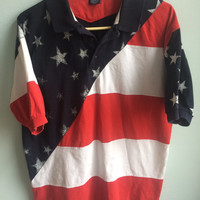 american flag short-sleeved t shirt / fourth of july / USA