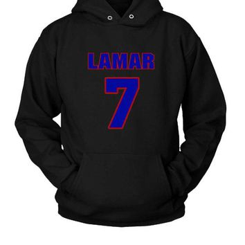DCCK7H3 Basketball Player Lamar Odom Jersey Hoodie Two Sided