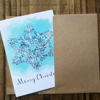 Christmas Card, Snowflake Card, Greeting Card