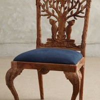 Handcarved Menagerie Woodpecker Dining Chair by Anthropologie