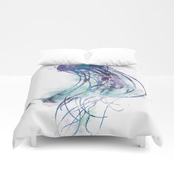Jellyfish Duvet Cover by monnprint