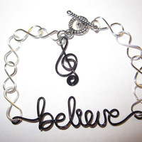Inspirational Bracelet Believe in Music Unique Gifts