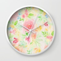 summer flowers Wall Clock by sylviacookphotography