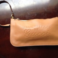 Authentic Gucci Made in Italy Leather Clutch