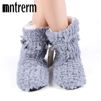 Womens Winter Warm Cotton Sheep Home Slippers Indoor Plush Size House Shoes