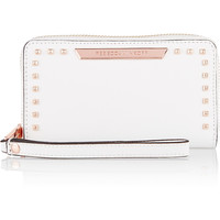 Rebecca Minkoff Olivia textured-leather wallet – 40% at THE OUTNET.COM