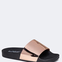 Metallic Band Slip on Sandal