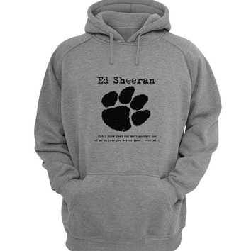 ed sheeran Hoodie Sweatshirt Sweater Shirt Gray for Unisex size with variant colour
