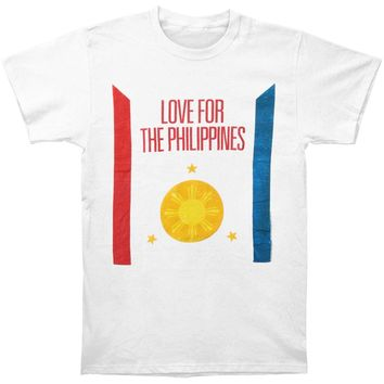 Linkin Park Men's  Love For The Philippines Slim Fit T-shirt White