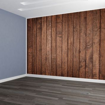 Dark Board Siding Custom Designed Wallpaper Peel and Stick