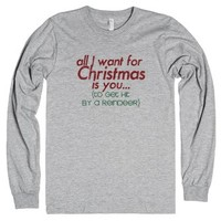 All I want for Christmas shirt-Unisex Heather Grey T-Shirt