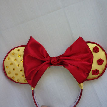 Beauty and the Beast inpsired mouse ears