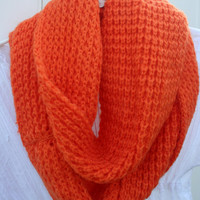 Infinity Scarves Cowl Scarf Multicolor RedOrange White by PIYOYO