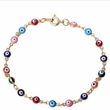 Teeny Tiny 'Evil Eye' Multi-color Bracelet