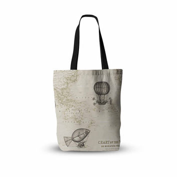 "Catherine Holcombe ""The Southern Route"" Brown White Everything Tote Bag"