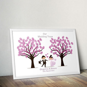 instant wedding guestbook guest book print cute wedding trees guest book wedding