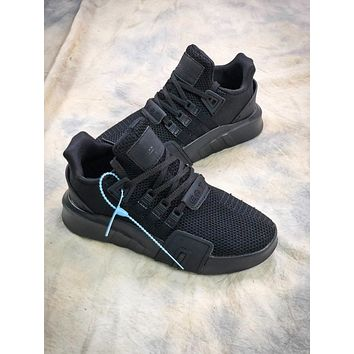 Adidas Eqt Basketball Adv All Balck Sport Running Shoes - Sale