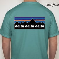 Delta Delta Delta Patagonia Look-Alike Comfort Colors (Short Sleeve)