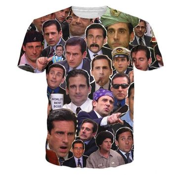 Michael Scott All-Over Print T-Shirt   40% Off + Free Shipping