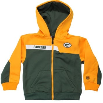 Green Bay Packers Toddler Resilient Full Zip Unbreakable Hoodie – Green - http://www.shareasale.com/m-pr.cfm?merchantID=7124&userID=1042934&productID=547703104 / Green Bay Packers