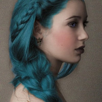 Dark Blue Salon Grade Hair Chalk // Temporary Hair Color