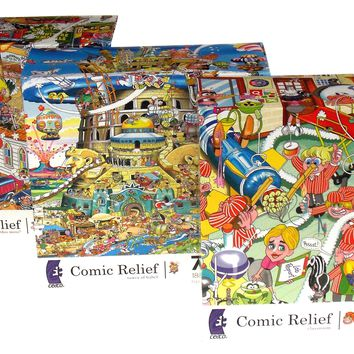 Ceaco Comic Relief Classroom Tower Babel Started This Mess 750 Pc Puzzles 24x18