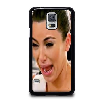 kim kardashian ugly crying face samsung galaxy s5 case cover  number 1