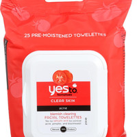Yes To Tomatoes Exfoliating Facial Wipes - Blemish Clearing - Acne - Clear Skin - 25 Count - Case Of 3