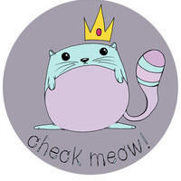 Button Pin Check Meow: Pin Back Button Check Meow
