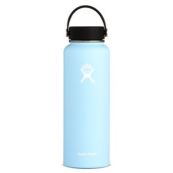 afce7252c5 40 oz Wide Mouth Hydro Flask - Frost