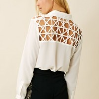 WEB OF LIES BLOUSE