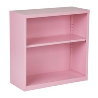 Office Star Metal Bookcase in Pink Finish