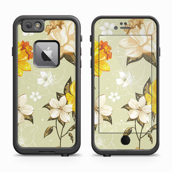 Yellow and White Flower Skin for the Apple iPhone LifeProof Fre Case