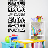 Know That You Are Loved Wall Quote Kids Room Decals Vinyl Wall Decals Sticker