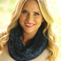Animal Lover Infinity Scarf in Blue