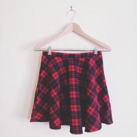 Priscilla Red Plaid Skirt