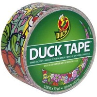 Duck Brand 281759 Printed Duct Tape, Wallflower, 1.88 Inches x 10 Yards, Single Roll