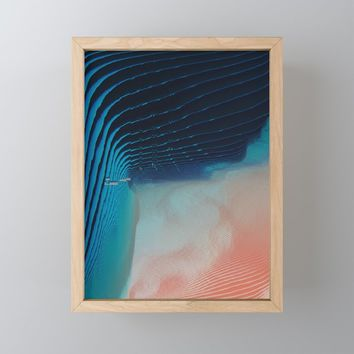 Ripples Framed Mini Art Print by duckyb