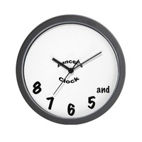 CafePress Dancer's Clock Wall Clock