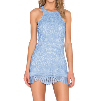 Lovers + Friends Caspian Shift Dress in Crystal Blue