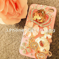 iPhone 4 Case, iPhone 4s Case,iPhone 5 Case, Bling iPhone 5 Case, iphone 4 bling case crown, iphone case pumpkin carriage