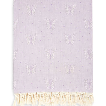 Linum Home Textiles Butterfly Pestemal Beach Towel - Purple