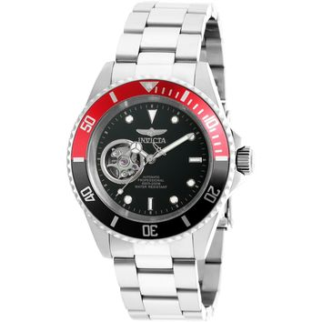 Invicta Men's 20435 Pro Diver Automatic 3 Hand Black Dial Watch
