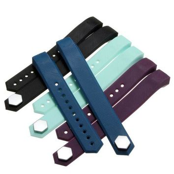 ac spbest High Quality Soft Silicone Wristbands Replacement Strap Bracelet for Fitbit Alta/ Fitbit Alta Tracker Smart WatchBand L Size