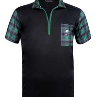GT Hazard ProCool Men's Golf Shirt (Black/Green) - Price Slashed!