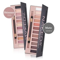 Pro 12 Colors Shimmer Or Matte Eye Shadow Natural Eyeshadow