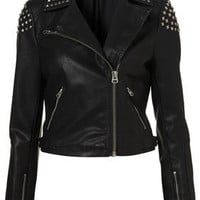 Studded Biker Jacket - Sale  - Sale & Offers